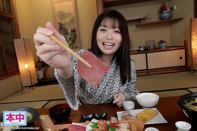 天野碧の温泉デートVR_温泉旅館で食事
